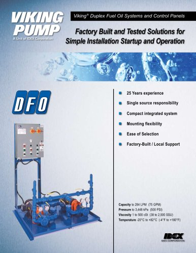 Viking Pump - Form333_rev B - Duplex Fuel Oil Systems