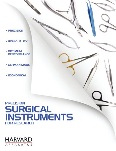 Harvard Apparatus Surgical instruments Brochure