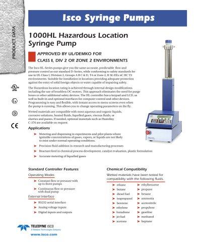1000HL Syringe Pump