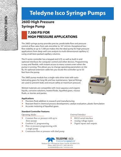 260D Syringe Pump