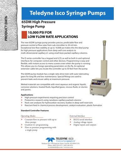 65DM Syringe Pump