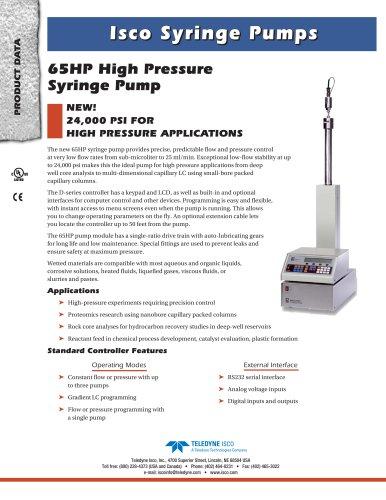 65HP Syringe Pump
