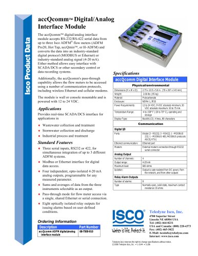 accQcomm™ Digital/Analog Interface Module