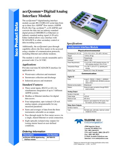 accQcomm Digital Analog Interface Module