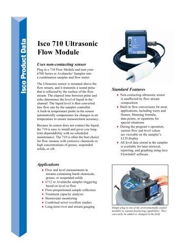 Isco 710 Ultrasonic Flow Module