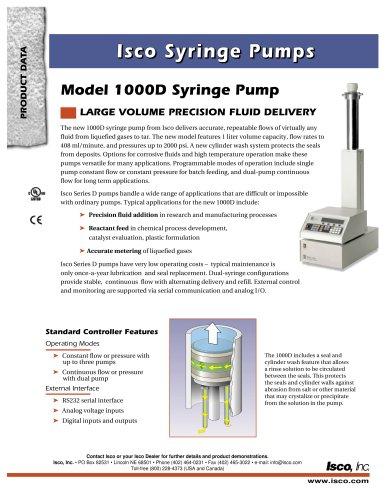 Model 1000D Syringe Pump