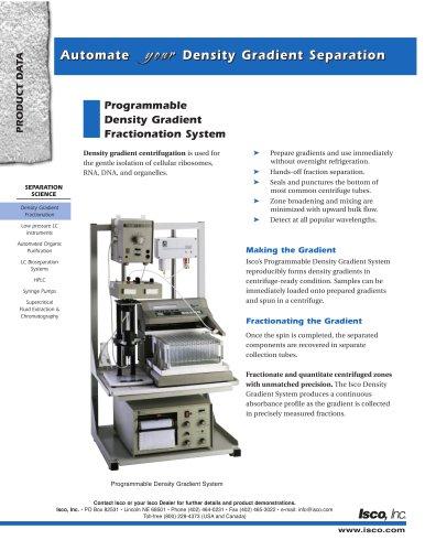 Programmable  Density Gradient  Fractionation System