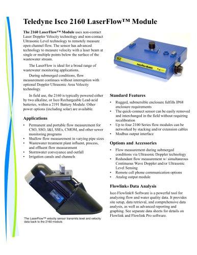 Teledyne Isco 2160 LaserFlow™ Module