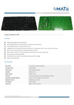 MATE MKB-113-FSN Military Silicone Keyboard Panel Mount with Mouse Button