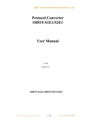 ODOT-S1E1 User Manual 20200720