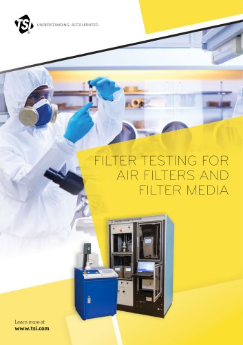 Filter Testing for Air Filters and Filter Media - Borchure