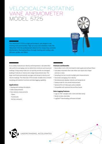 Rotating Vane Anemometer 5725
