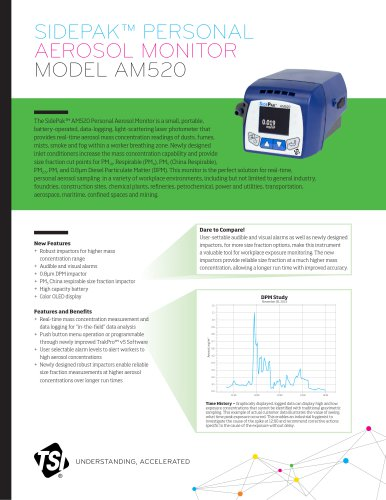 SIDEPAK™ PERSONAL AEROSOL MONITOR MODEL AM520