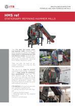HMS Ref STATIONARY REFINER HAMMER MILLS