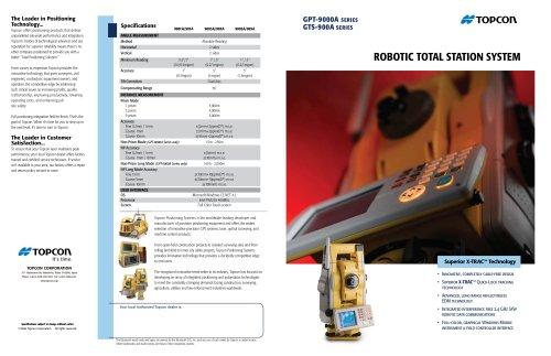 GPT-9000A/900A  ROBOTIC TOTAL STATION