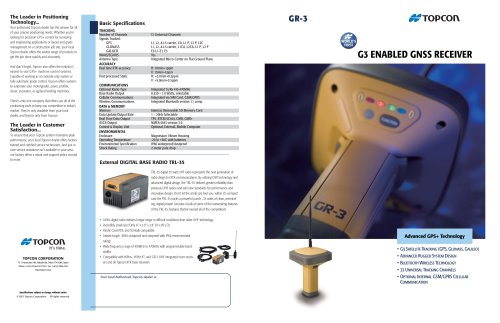 GR-3  G3 ENABLED GNSS RECEIVER