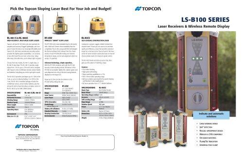 Laser Receivers & Wireless Remote Display LS-B100/110W