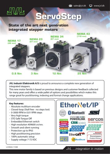 ServoStep - State of the ort next generation integrated stepper motors