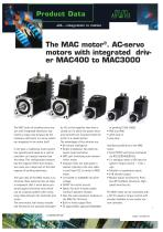 The MAC motor®. AC-servo motors with integrated driver MAC400 to MAC3000