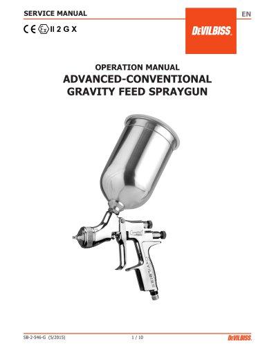 ADVANCED-CONVENTIONAL GRAVITY FEED SPRAYGUN