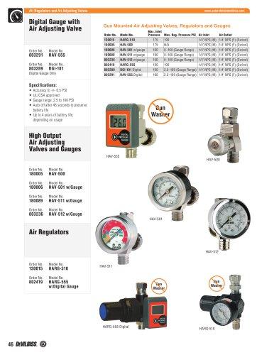 Air Adjusting Valves, Regulators & Gauges