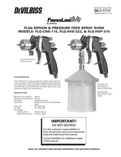 FLG4 SIPHON & PRESSURE FEED SPRAY GUNS