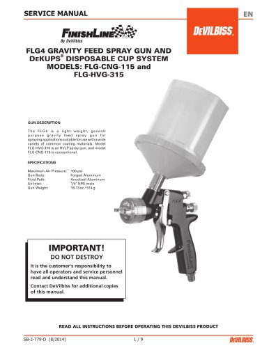 JGA-510 Conventional Spray Gun
