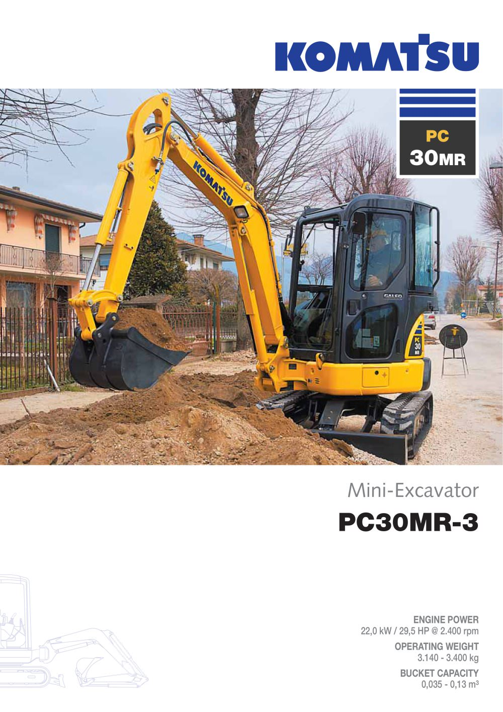 Komatsu Sk 714 Wiring Diagram Pc30mr 3 Europe Pdf Catalogue Technical Documentation 1 12 Pages