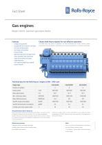 Bergen C26:33 gas engine