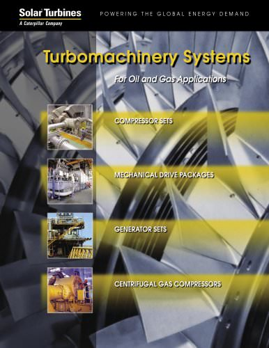 Turbomachinery Systems for Oil & Gas Applications