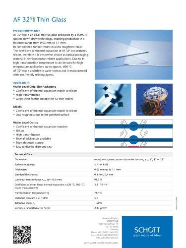 AF 32® eco Thin Glass