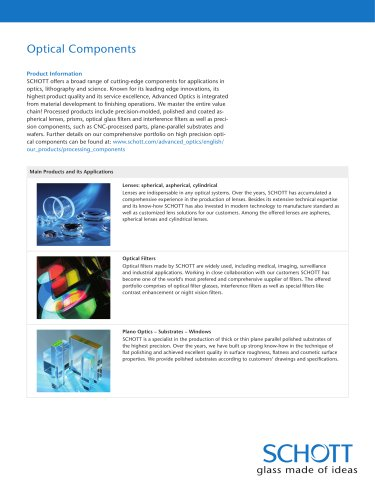 Optical Components - Overview