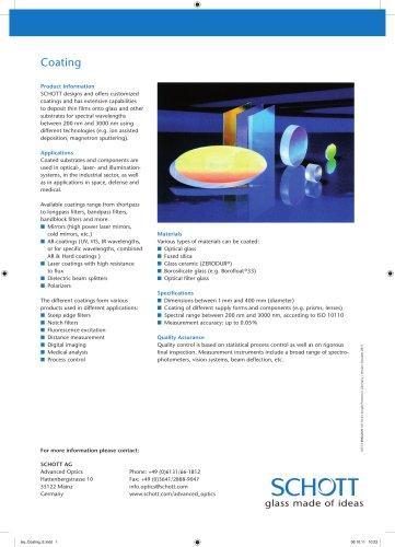 Optical Glass Coatings