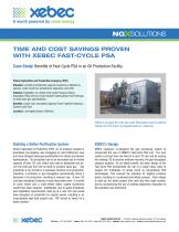 TIME AND COST SAVINGS PROVEN WITH XEBEC FAST-CYCLE PSA - 1
