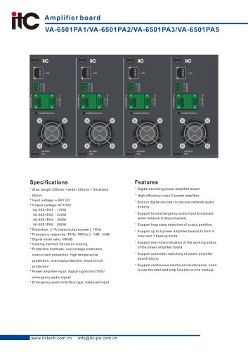 VA-6501PA1/VA-6501PA2/VA-6501PA3/VA-6501PA5