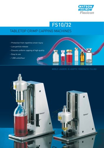 Flexicon FS10/32 tabletop crimp capping system