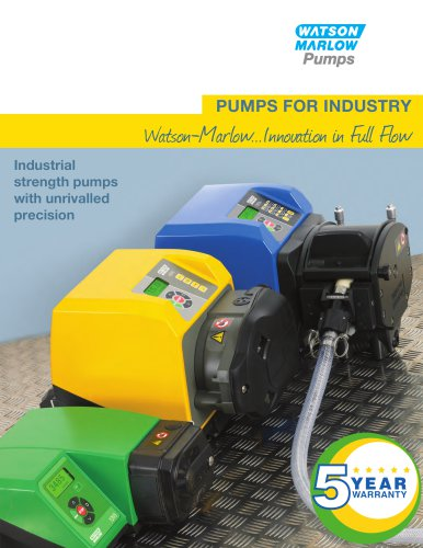 Industrial catalogue - peristaltic pumps