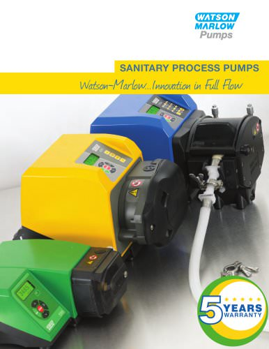 Sanitary process pumps catalog