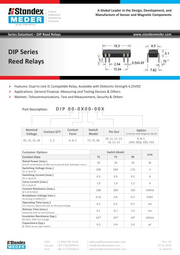 DIP SERIES REED RELAY