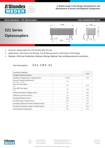 Optocoupler 521 Series
