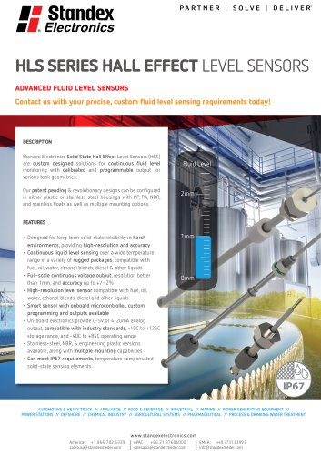 Product Solutions – HLS Series Hall Effect Level Sensors