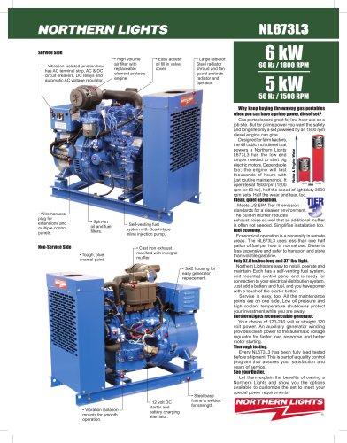 6 kW NL673L3 Land Based Generator