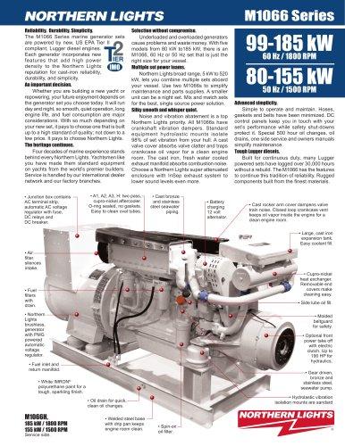 60 Hz / 1800 rpm: 160 kW M1066 marine generator