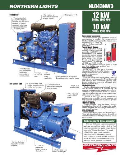 NL843NW3 12 kW @ 60 Hz / 10 kW @ 50 Hz