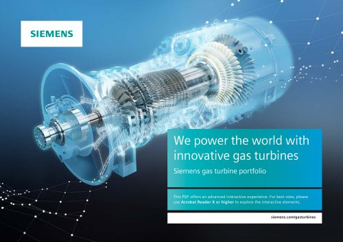 Gas turbine portfolio brochure (interactive)
