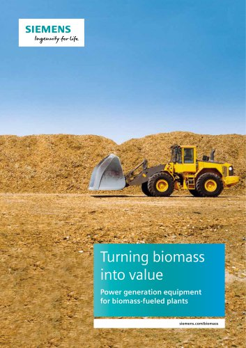 Power generation equipment for biomass-fueled plants