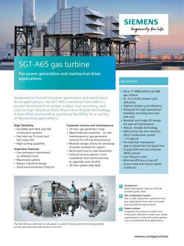 SGT-A65 gas turbine