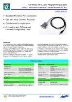 Model C1168A Mini-Jack Programming Cable - 1