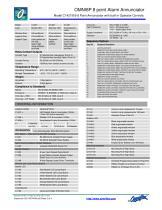 Model C1427A 8Pt BACKLIT LED ANNUN 24Vdc +com Inputs - 2