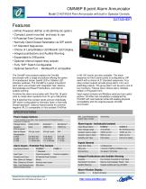 Model C1428A 8Pt SIDEBAR LED ANNUN 24Vdc +com Inputs - 1